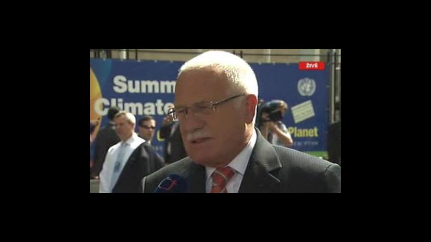 Video Rozhovor s Václavem Klausem v New Yorku