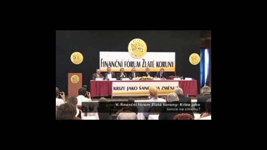Video Vystoupení Eduarda Janoty a Mirka Topolánka na fóru Zlaté koruny