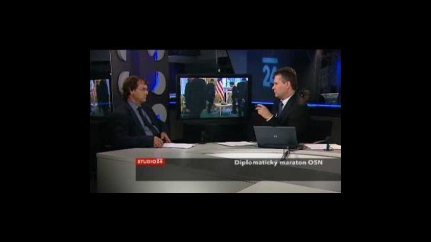 Video Studio ČT24 - Diplomatický maraton OSN