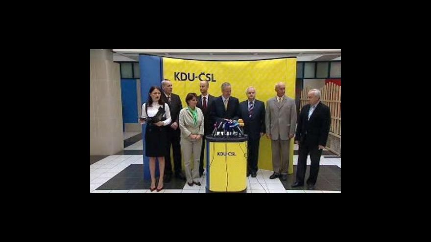 Video Brífink KDU-ČSL k rozpočtu a eurokomisaři