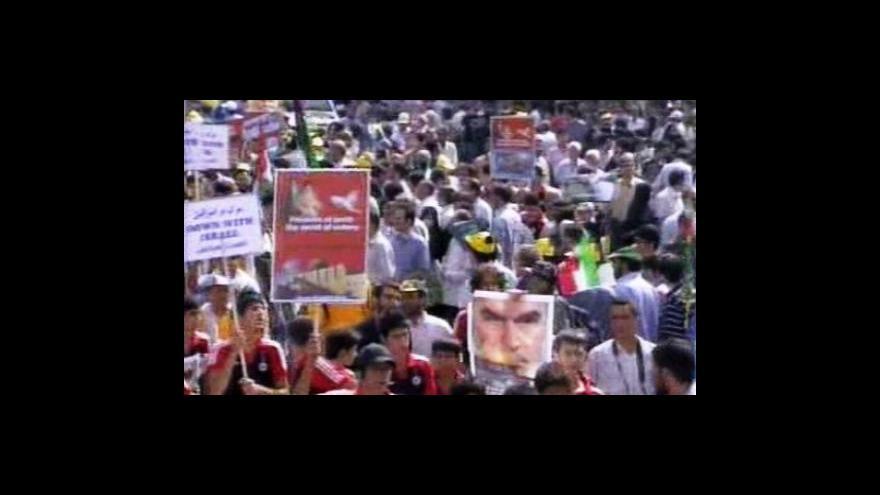 Video V Teheránu opět vyšli lidé do ulic