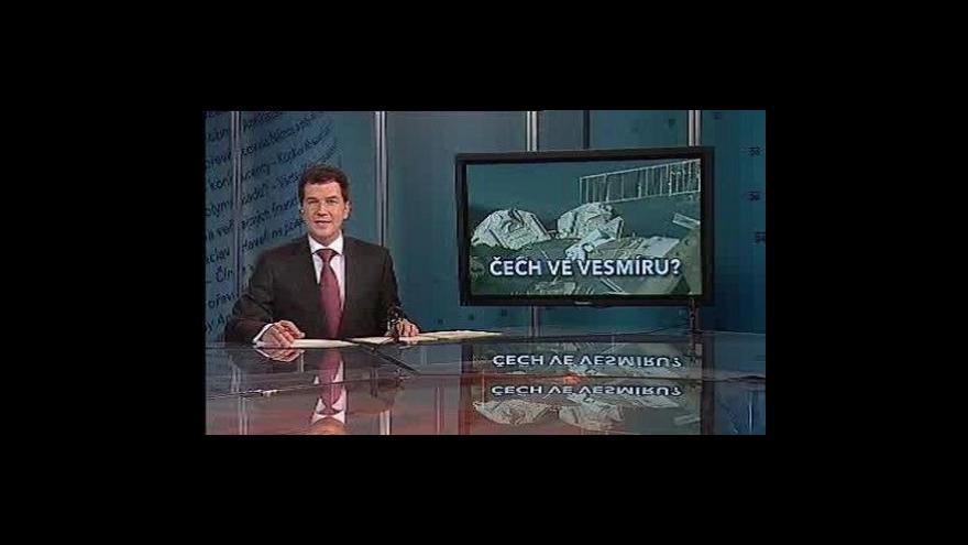 Video Události, komentáře o možném letu Čecha do vesmíru