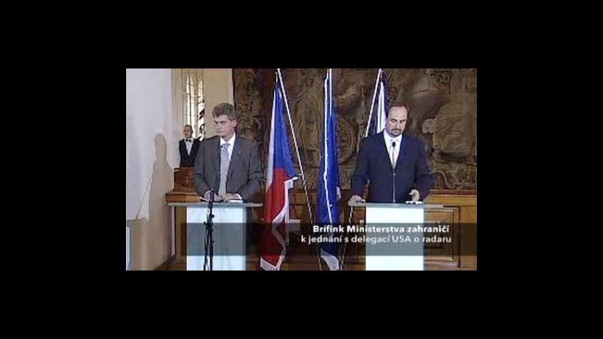 Video Brífink ministra zahraničí po jednání s americkou delegací