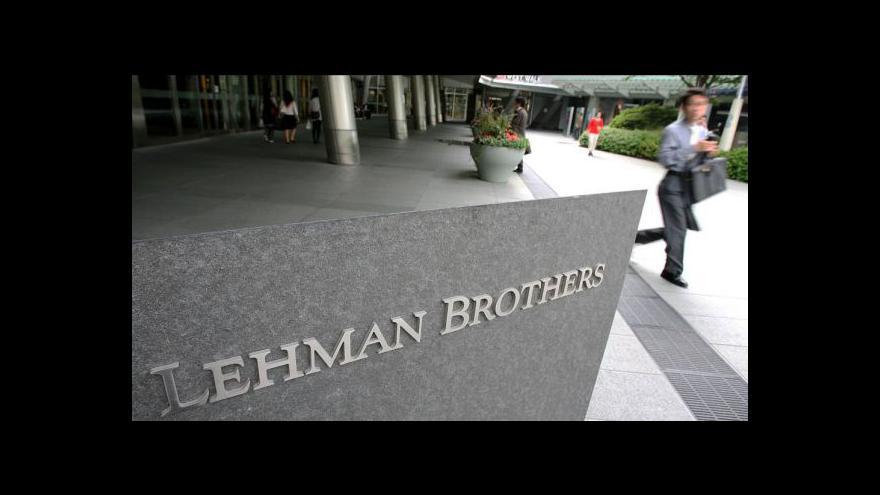Video Krach Lehman Brothers naplno rozhořel krizi
