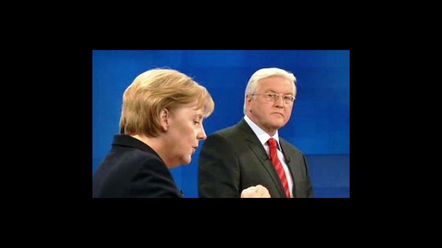 Video Duel Merkelové a Steinmeiera