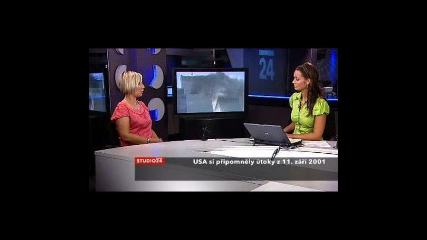 Video Studio ČT24 k osmému výročí útoků na WTC
