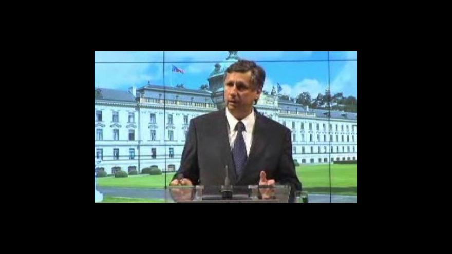 Video Brífink po jednání vlády o státní rozpočtu