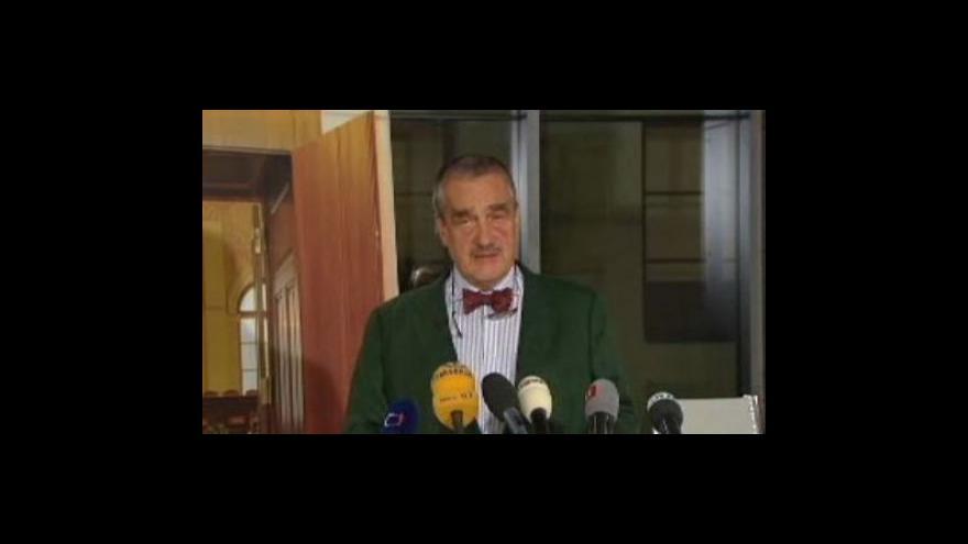 Video Brífink po jednání předsedů parlamentních stran