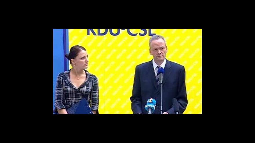 Video Brífink Cyrila Svobody k návrhu ČSSD