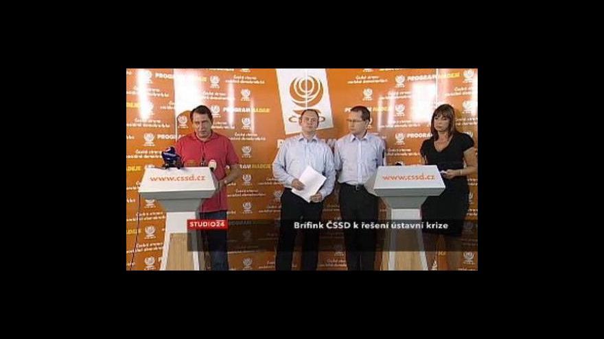 Video TK ČSSD o řešení ústavní krize