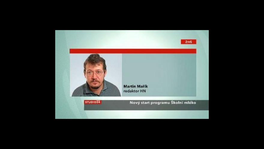 Video Martin Mařík ve Studiu ČT24