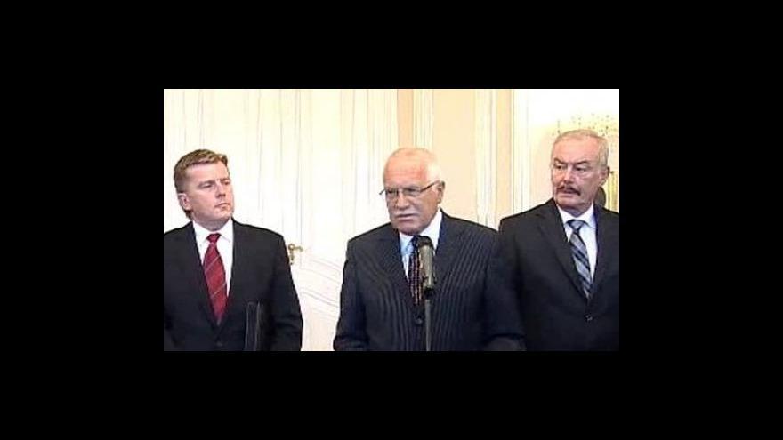 Video Brífink po jednání na Hradě