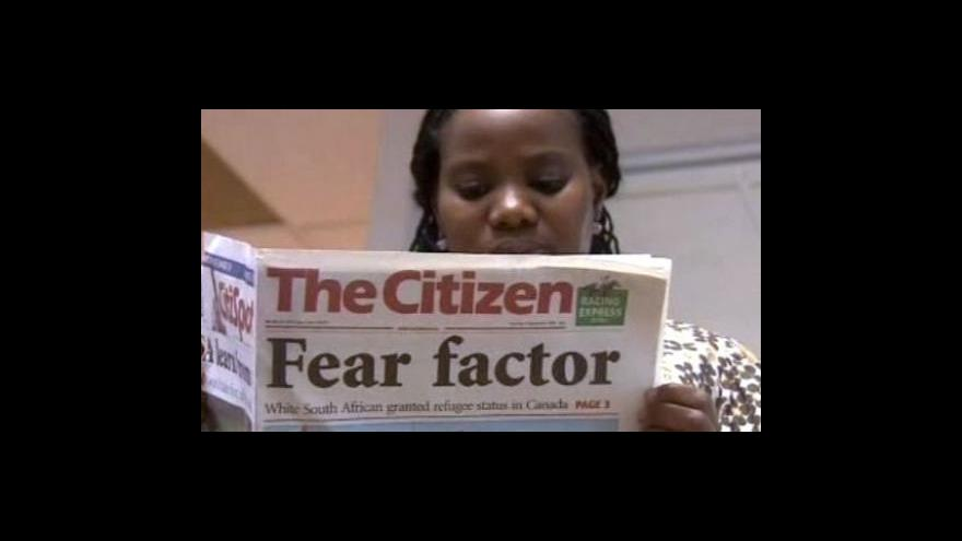 Video Bílý Jihoafričan dostal azyl v Kanadě