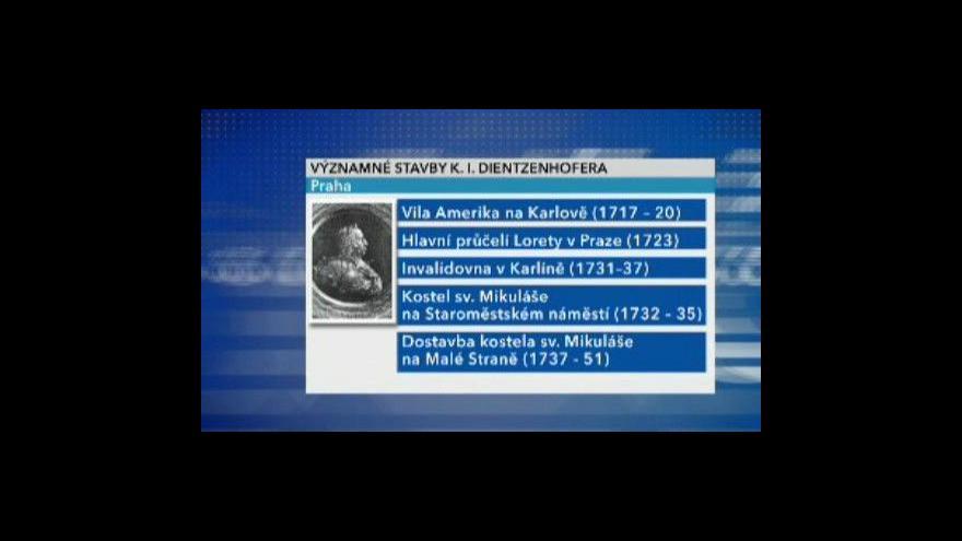 Video Mojmír Horyna o K. I. Dientzenhoferovi