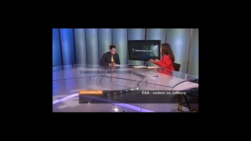 Video Rozhovor s Filipem Gasparem v Ekonomice ČT 24