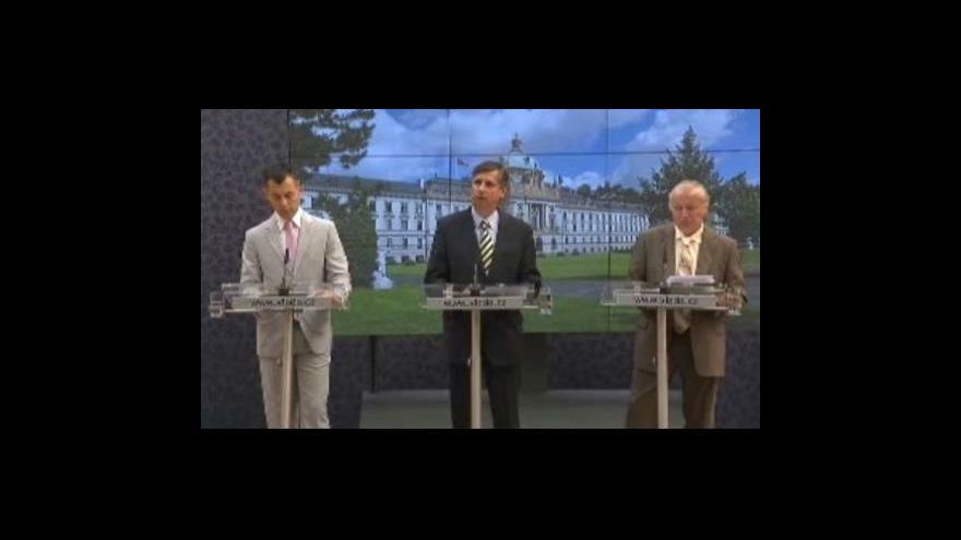 Video Brífink k jednání vlády