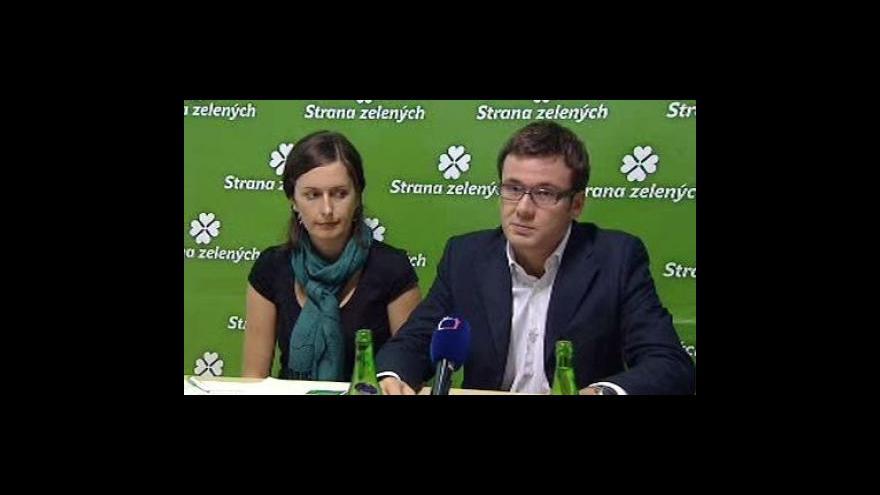 Video Brífink zelených k předvolebnímu programu