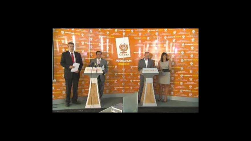 Video Brífink ČSSD k volebnímu programu