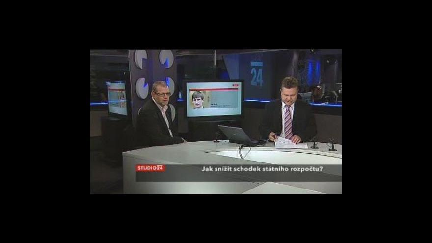 Video Viliam Buchert a Jan Bureš ve Studiu ČT24
