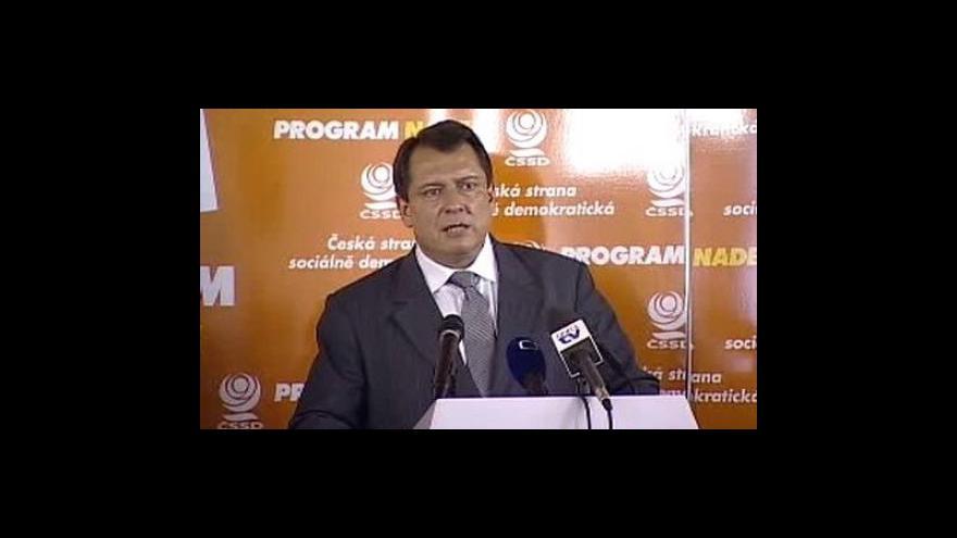 Video Prohlášení Jiřího Paroubka ke kauze Reflex
