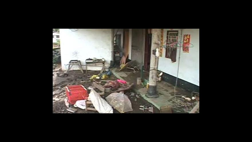 Video Následky tajfunu na Tchaj-wanu