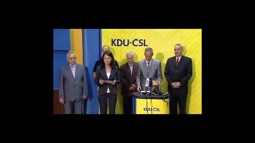 Video Brífink KDU-ČSL po jednání předsednictva