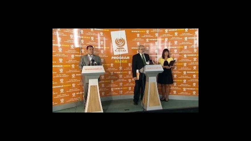 Video Brífink ČSSD k protikrizovým opatřením