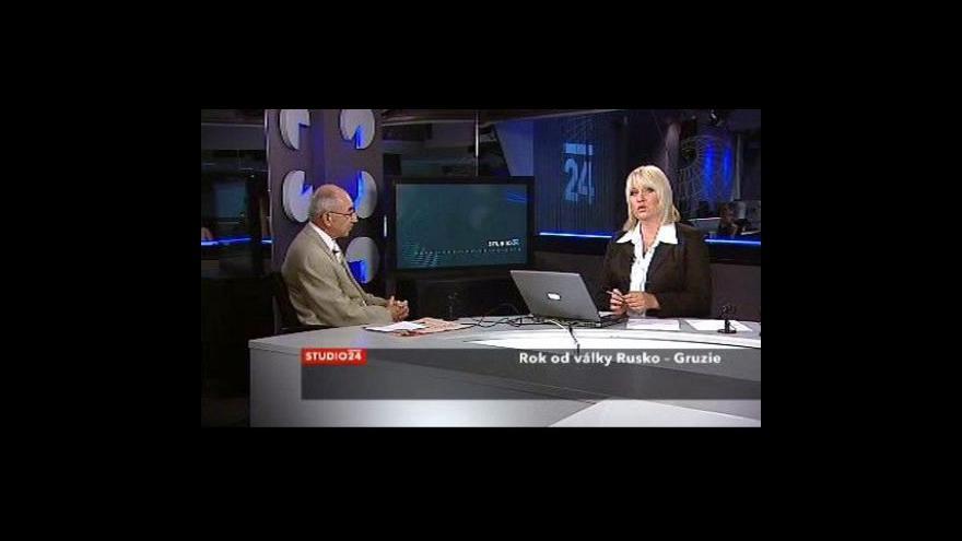Video Studio ČT24 k výročí rusko-gruzínské války