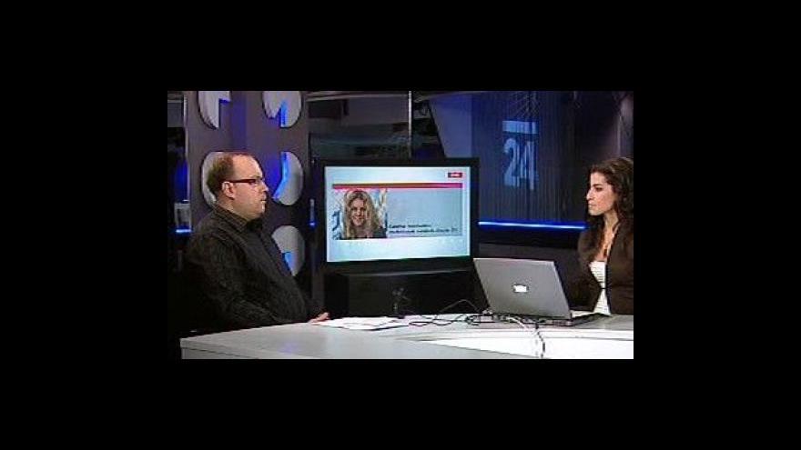 Video Libor Nováček a Kateřina Holcmanová ve Studiu ČT24
