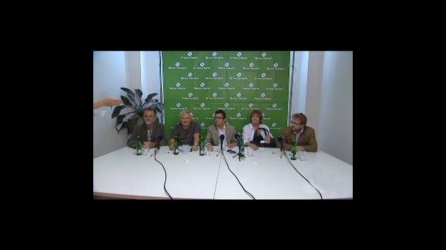 Video Brífink SZ a SOS o předvolební spolupráci