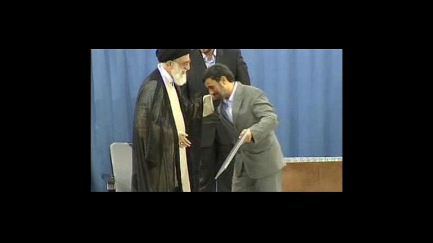 Video Ahmadínežád potvrzen do funkce