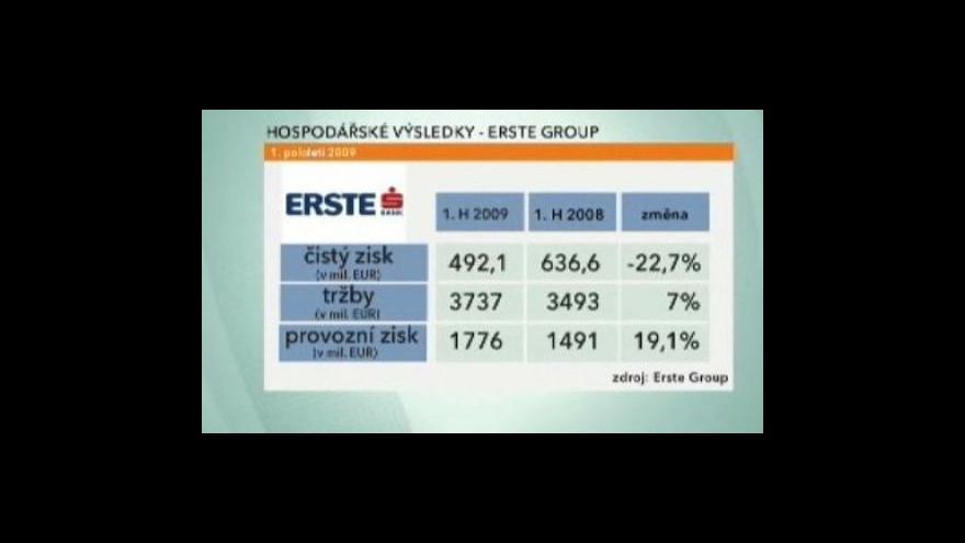 Video Výsledky Erste Bank a České spořitelny