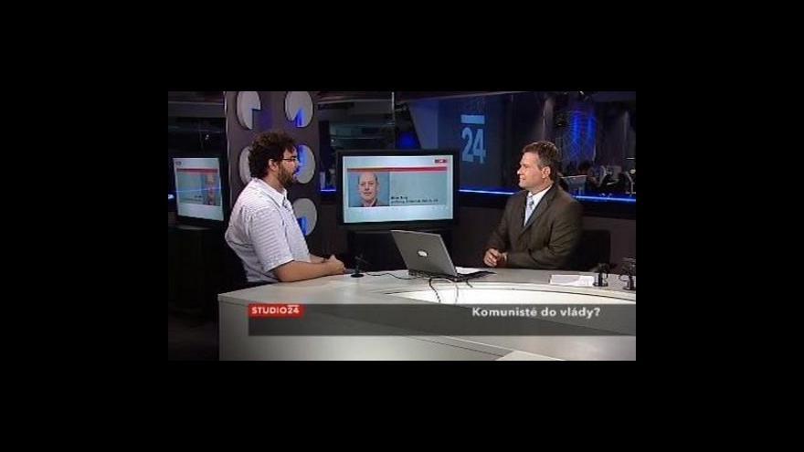 Video Erik Tabery a Milan Znoj ve Studiu ČT24