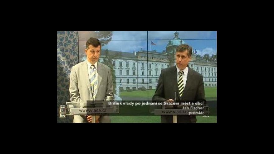 Video Brífink po jednání vlády se Svazem měst a obcí