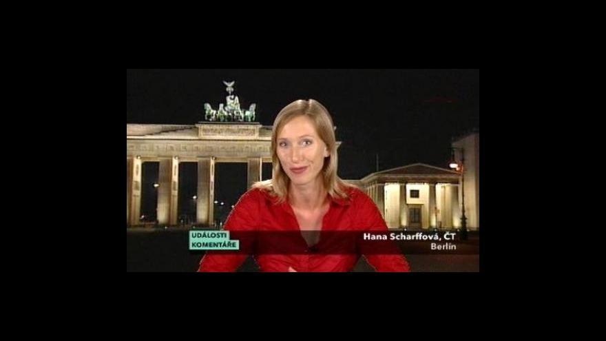 Video Vstup Hany Scharffové v Událostech, komentářích