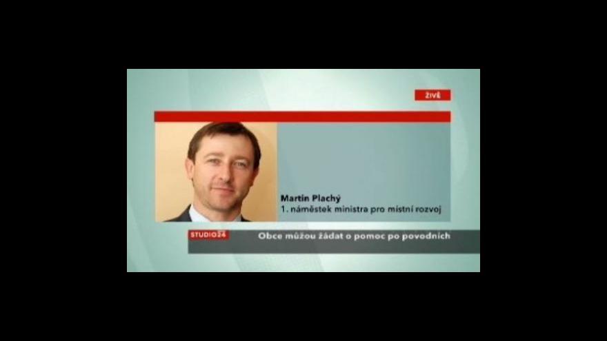 Video Náměstek Martin Plachý ve Studiu Čt24