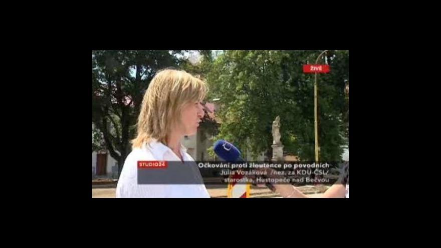 Video Starostka Julia Vozáková ve Studiu ČT24