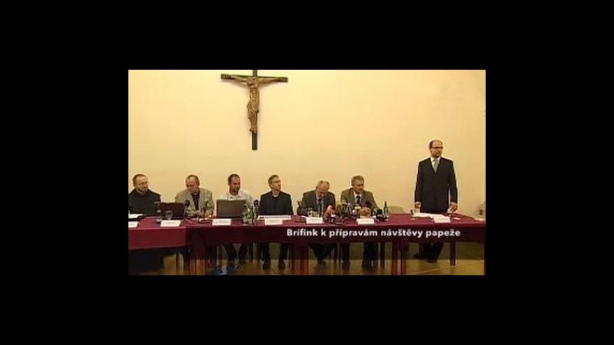 Video Brífink realizačního týmu k návštěvě papeže