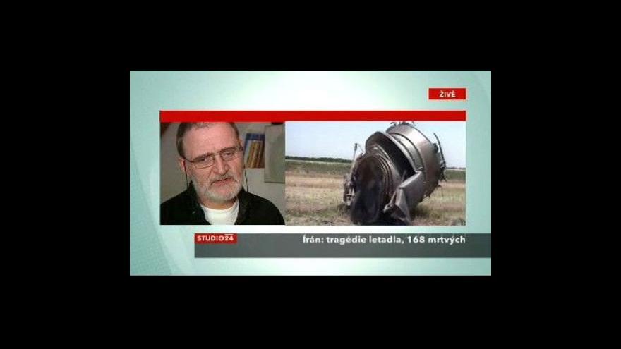 Video Letecký publicista Martin Velek o havárii íránského stroje