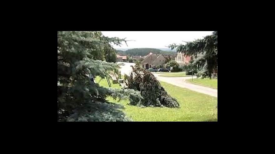 Video Českem se prohnaly bouřky