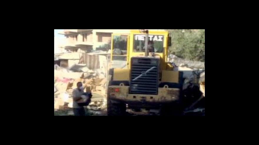 Video Buldozery srovnaly v Řecku tábor uprchlíků se zemí