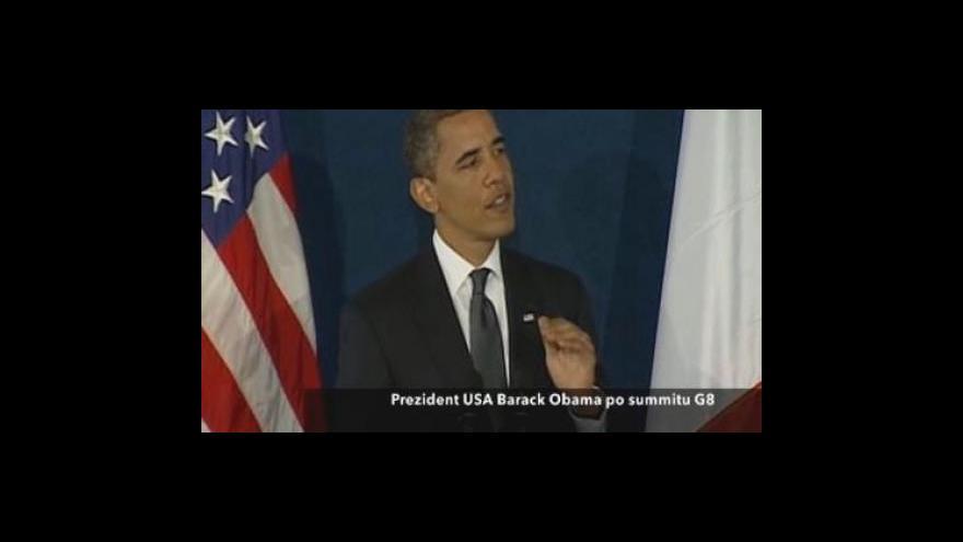 Video Barack Obama po skončení summitu G8