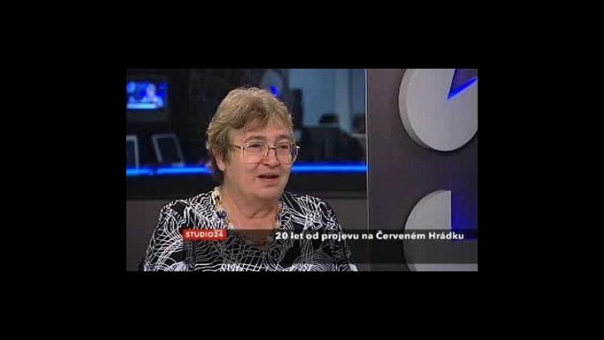 Video 20 let od Jakešova projevu - komentář Petrušky Šuštrové