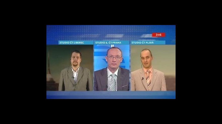 Video Květa Moravcová, Petr Krčmář a Jiří Prošek ve Studiu 6
