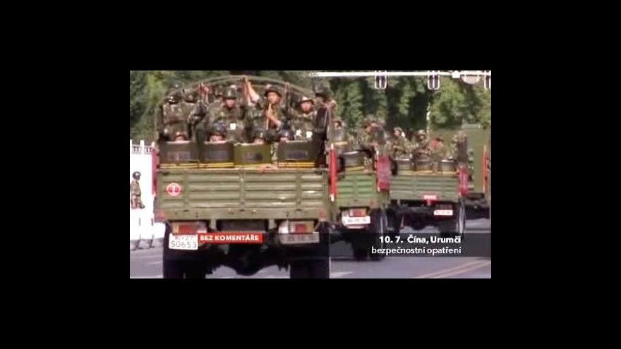 Video Bez komentáře: Bezpečnostní opatření v Urumči