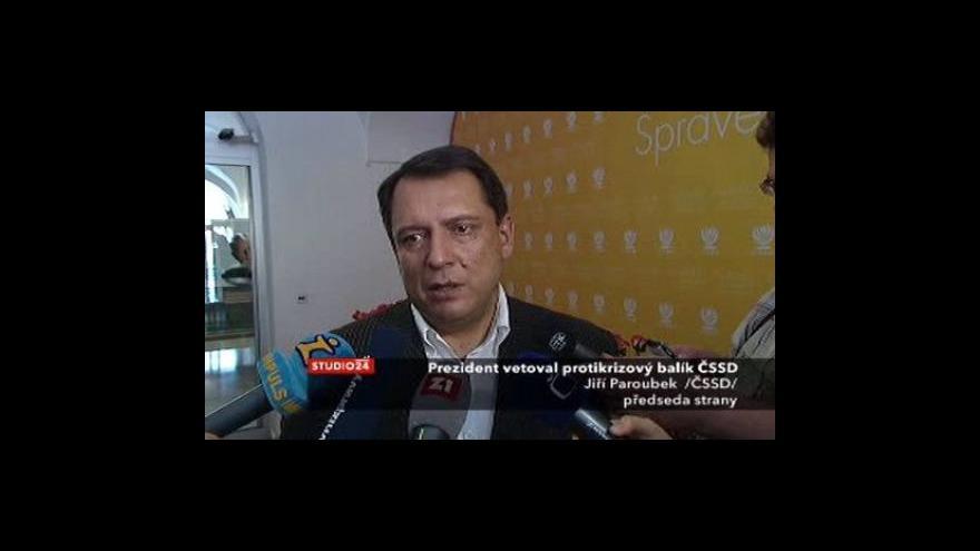 Video Vyjádření Jiřího Paroubka