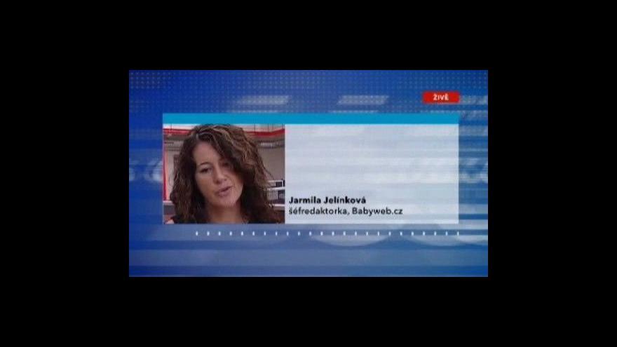 Video Šéfredaktorka Babyweb.cz Jarmila Jelínková ve Studiu ČT24