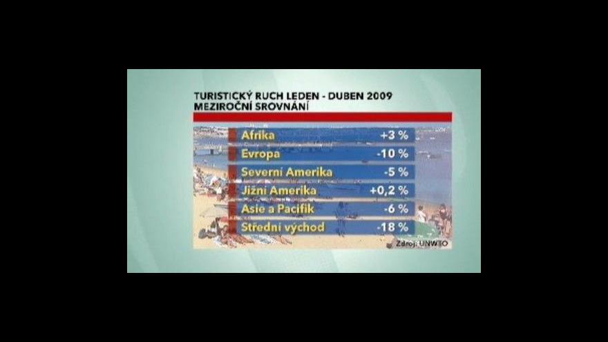Video Ekonomika ČT24 o poklesu cestovního ruchu