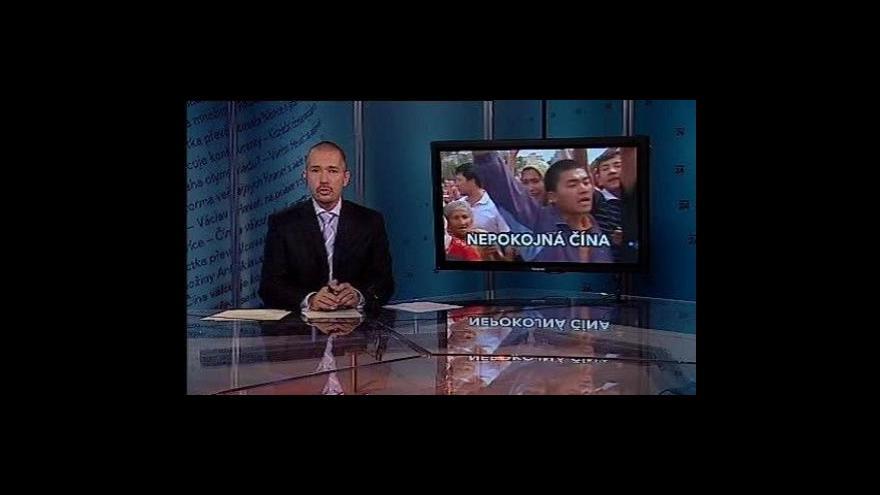 Video Události, komentáře o nepokojích v Číně