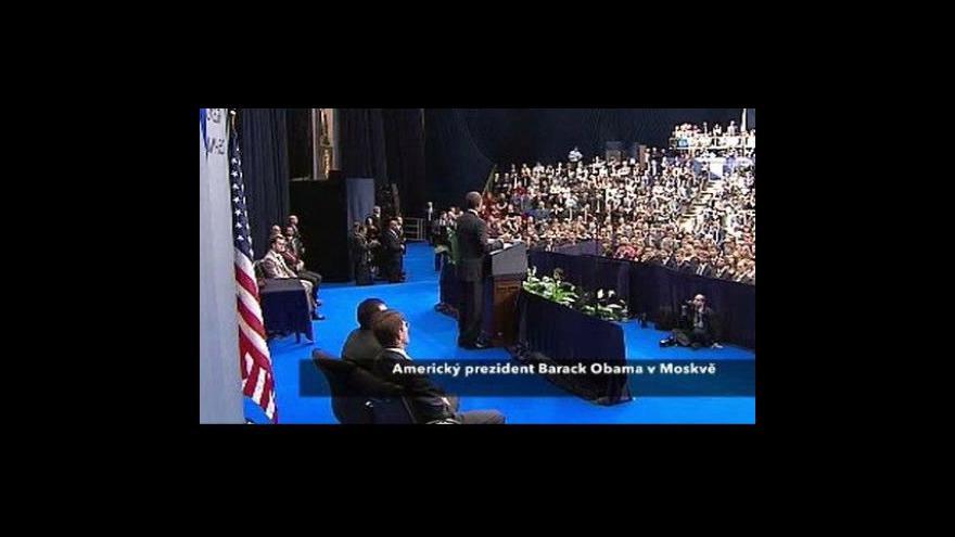 Video Projev amerického prezidenta v Moskvě